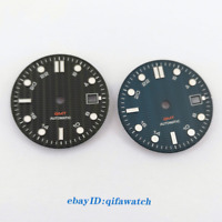 31mm Black blue watch Dial Fit ETA 2836/2824 DG2813/3804 Miyota 8215 821A 8205