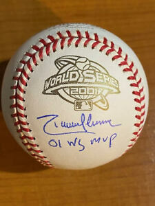 "Randy Johnson ""01 WS MVP"" - Signed Autographed 2001 World Series Baseball - PSA"