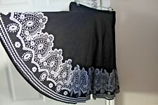 H&M lolita swing skirt black white UK 6 8