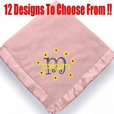 Personalized Baby Girl Blanket  ~ Embroidered/monogram baby girl blanket
