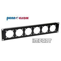 "2U Penn Elcom Rack Panel Punched for 6 x 16Amp connectors R1268/2UK-721 19"""