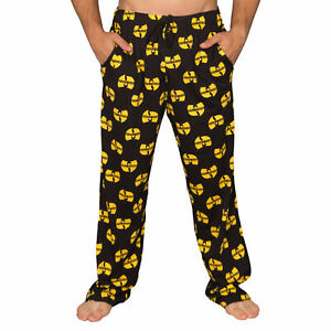 Adult Unisex Wu Tang Clan Logo Yellow and Black Lounge Pants