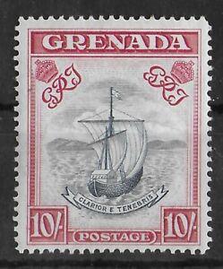 BERMUDA 1938-1950 Mint NH 10/- Slate Blue & Bright Carmine SG #163b CV £300 VF