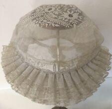 Coiffe Dentelle Ancienne Broderie Régionale Linge Vêtement Ancien Chapeau