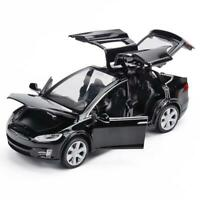 1:32 Tesla Model X 90d Diecast Model Car Sound&Light Pull Back Suv Toy Xmas Gift