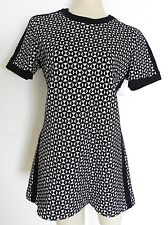 Vintage Personal Leslie Fay Short Sleeve Sweater Mini Dress Size S