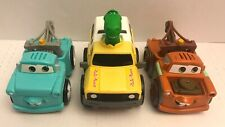 3PC lot Fisher Price Shake N Go Disney Cars Tow Mater & Toy Story Dinosaur Rex