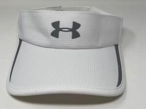 NEW Under Armour Mens UA Aromur Vent Reflectivity Athletic Visor Hat Cap White