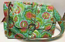 Kalencom Coated Diaper Bag Multi Pocket With Changing Pad Floral