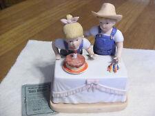 """DENIM DAYS HOMCO  """"Happy  Birthday""""  FIGURE"""