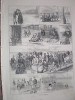 Sketches at Margate 1872 old print my ref S