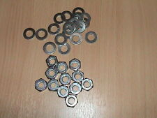 200 M10 WASHERS AND 100 M10 FULL HEX BZP NUTS