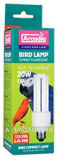ARCADIA BIRD LAMP COMPACT FLUORESCENT 20W E27 LIGHT BULB 2.4% UVB 12% UVA FBC20X