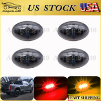 4x Smoked Red&Amber Dually Bed Side Fender Marker LED Light for Ford 99-10 F350