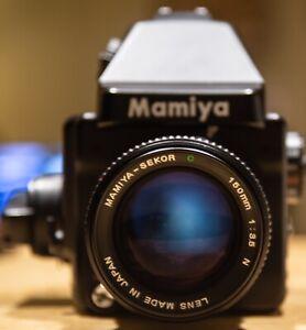 Mamiya 645e medium format camera w/ Sekor 150mm f3.5 & 120 Insert