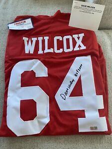 DAVE WILCOX signed jersey HOF 2000 Inscription, COA cert No Nfl Logos