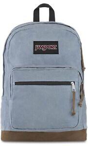 JanSport Right Pack Expressions Backpack-Grey Slate Canvas Bag For Laptop