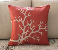 Vintage Red Tree Coral Cotton Linen Throw Pillow Cushion Cover Home Decor H2765