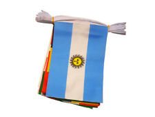 PREMIUM QUALITY INTERNATIONAL FLAGS OF THE WORLD FABIC BUNTING 10 METRES LONG