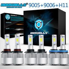 6PCS 9005 + 9006 + H11 LED Headlight Light Bulbs For Mitsubishi Lancer 2008-2015