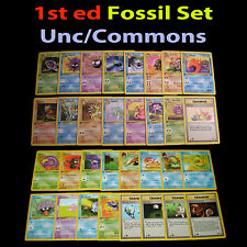 NM 1st edition COMPLETE Pokemon FOSSIL 32-Card Uncommon/Common Set/62 Trainer