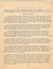 Sardonicus #10 - 1969 science fiction fanzine - apa-zine