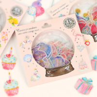 48Pcs Crystal Ball Cat Candy Stickers Kawaii Stationery Scrapbook Stickers DIY~~