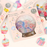 48Pcs Crystal Ball Cat Candy Stickers Kawaii Stationery Scrapbook Stickers DIY