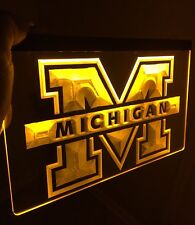Michigan Wolverines Logo LED Neon Sign for Game Room,Office,Bar,Man Cave, New!