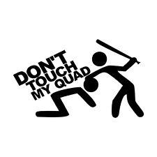 Don 't Touch My quad pegatinas Shocker decal sticker ATV-QUAD