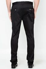 VERSACE JEANS Black Chino Pants Trousers IT48/UK32 stretch cotton