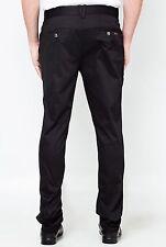 Versace Negro Chino Pantalones Pantalones IT48/UK32 Algodón Elástico