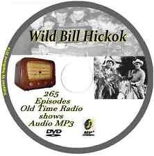 Wild Bill Hickok 265 OTR Old Time Radio Episodes Audio MP3 on DVD Western