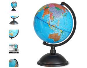 World Globe - 8 inch Globe of World Perfect Spinning Globe, Geography Students,