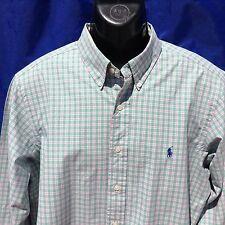 """Polo Ralph Lauren Madras Cheque Clásico Camisa De Algodón 46"""" (117cm) en el pecho"""