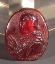 Neo Classical Carnelian Intaglio Wax Seal Blessing Prelate 19-20th #273