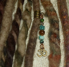 Un DREADLOCK Perle OHM Dread bijoux bijoux de cheveux poignet charme bohème Dangle