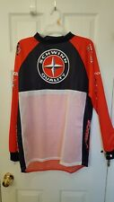 De Marchi Long Sleeve Cycling Jersey Red/White/Black 2Xl Nwot