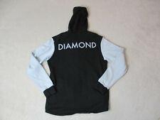 Diamond Supply Company Jacket Adult Large Black Gray Varsity Hooded Coat Mens
