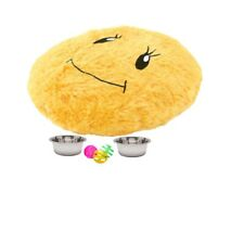Kitty 6 Piece Starter Kit for kitten 2 bowls a Bed and Toys