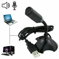 USB Mini Desktop Speech Microphone Mic Stand for PC Laptop Computer Notebook