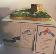 """Disney Pooh & Friends-Nib! """"Simple Wisdoms From The Woods"""" Base for 3 Figurines"""