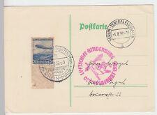 (Z60) Zeppelinpost Olympiafahrt 1936 auf Postkarte