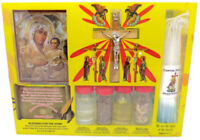 Holy Water Soil Oil Set Candle Icon Cross Jerusalem Incense Land Wood Blessed