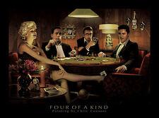 Chris Consani Four of a Kind Movie Stars Poker Print Poster