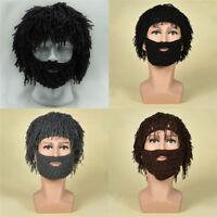 Cospaly Beard Hat Winter Warm Moustache Barbarian Looter Knit Crochet Beanie Cap