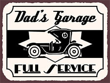 "Dad's Garage, Retro metal Sign/Plaque, Gift 10"" x 8"" Large"
