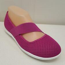 Crocs W7 Rosa Zapatos Mocasines Swiftwater Plano Comodidad sin Cordones Vibrant