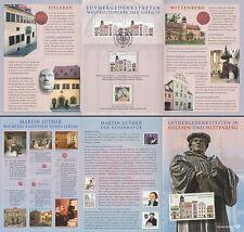 Hoja de recordatorio 3/2009 patrimonio mundial luthergedenkstätten (MINR. 1841+2736+ unowien 598)