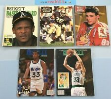 BECKETT Monthly Price Guide Vintage Lot 1989~1992 ERIC LINDROS SHAQUILLE O'NEAL